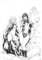 Vampirella and Goblin Queen by Leomatos2014