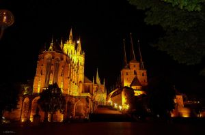 Mariendom and the Severikirche by rope-Focus-admission