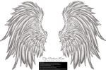 Frill and Fluff Wings - White by Thy-Darkest-Hour