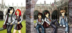 Old Days at Hogwarts by kimurii