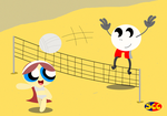 AT - Beach volleyball by smithandcompanytoons