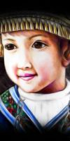 Portrait of Asian Child by Fihril