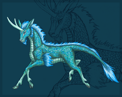 Greenish-blue Kirin by Lizzy23
