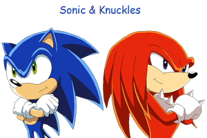 Sonic and Knuckles by MollyKetty