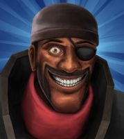 Demoman Rapeface by Zyari