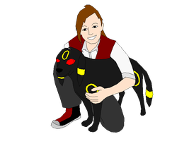 Hugging Umbreon by Harry-Potter-Addict