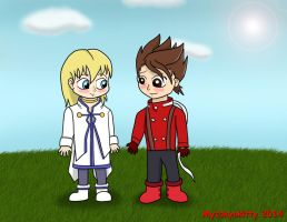 Request: Chibi Lloyd and Colette by Mytokyokitty