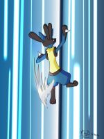 Lucario- Iron Tail by MMan222