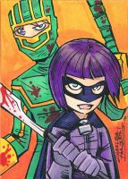 Kick-Ass Hit Girl sketch card by KidNotorious