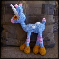 My 1st Crocheted Item -Unicorn by MajorTommy