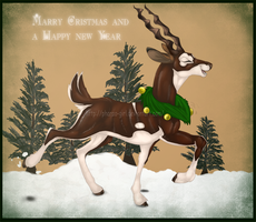 Blacky the Reindeer by pharao-girl
