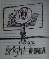 Gumball has a Bright Idea by MigsGarcia5127