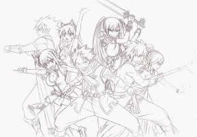 Fairy Tail 294 cover WIP by Chocogirl3