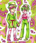 Green, Pink, and Paisley by Wanderer001