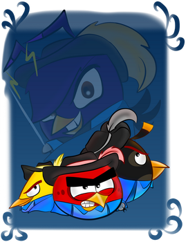 Angry Birds The 3 musketeers (redesigned) by Oceanegranada