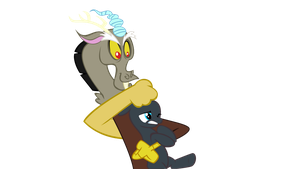 MLP base:Discord Holding Filly by MLP-Scribbles