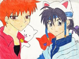 Kyo and Takuto The Two Cats. by CookieznMilk12