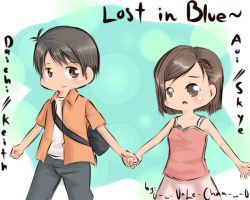 Lost in Blue -Holding Hands- by 0-w-VaLe-Chan-w-0