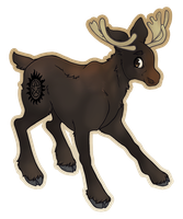 My Little Moose by moonspots