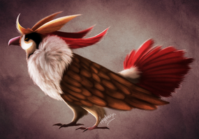 PokeFusion - Honchkrow x Pidgeot by Aesterix