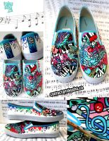 Painting Music - Custom Shoes by artsyfartsyness