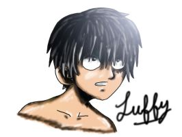 Luffy Portrait by CodeNameZimbabwe