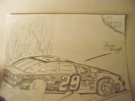 Harvick Burnout Chicagoland 01 by 18KyBuschfan