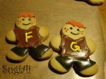 Fred and George Weasley by SugiAi
