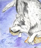 Water Wolf colored by Rio-del-Pantera