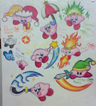 A buncha Kirbys here and there by SuperMarioFan888