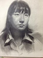 SKETCH_CHINESE GIRL by SolarsWind