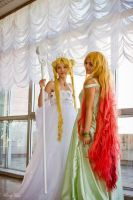Sailor Moon Neo Queen Serenity and Galaxia by IrinaSelena