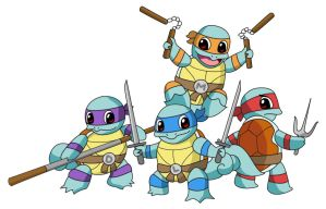 Teenage Mutant Ninja Squirtles by BigRedJake