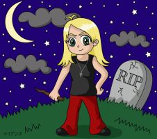 Chibi Buffy by lilpurpleperson