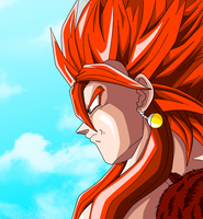Vegeto SSJ4 Colored Remake by JamalC157
