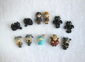 HTTYD How to Train your Dragon Eartstuds by LittleBreeze