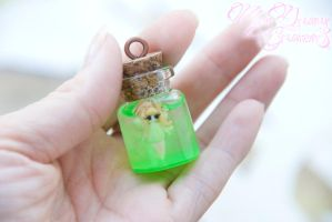 Apprehensive Green Fairy in a Bottle by IvrinielsArtNCosplay