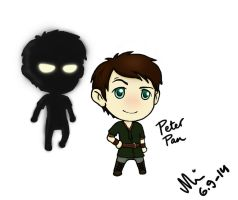 Once Upon a Time Chibified: Peter Pan by NurseRozetta95