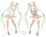 VOCALOID SKETCH : Sailor Fuku Sakura Miku (Chuko) by Kp-sama