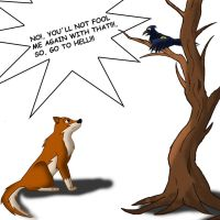 The fox and the crow by Katnay