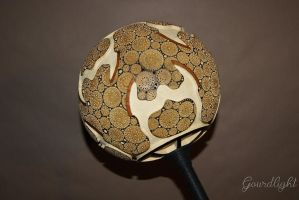 Handcrafted gourd lamp - Floor lamp I - Gourdlight by gourdlight