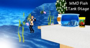 MMD Fish Tank Stage Download by SachiShirakawa