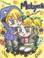 Matryoshka rin and len chibis by BLEEDFan95