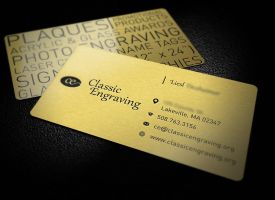 Classic Engraving Business Cards by dizzyflower28