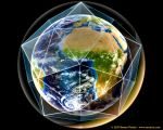 Earth in Dodecahedron Crystal by pen-dragon