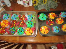 Fish cupcakes by Angel-Of-Tricks