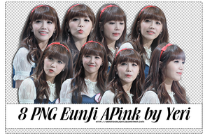 140115 [Render Pack] 8 PNGs EunJi Apink by YeRimoonlight