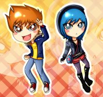 . Scott Pilgrim Chibis . by Ares0Silvers