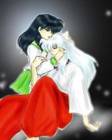 Kagome And Inuyasha by xXDarkDoomXx