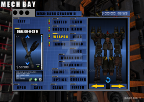 my concept game's Mech bay menu update 2 by ownerfate
